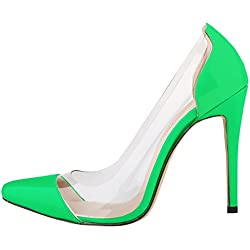 fereshte , Damen Pumps Grün Neon Grün