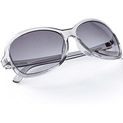 ANTONIO MIRO Gafas Mujer - UV400 transparentes ligeras - Lentes solares elegantes con Funda Rígida Cremallera - Satisfacción Garantizada!