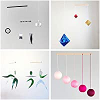 Set of 4 Montessori inspired mobiles - Black and white mobile, Pink Gobbi, Dancers, Octahedron. Montessori mobile. Baby mobile. Hanging mobile. Crib toy.