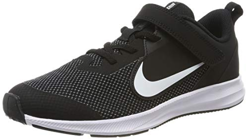 Nike Unisex-Kinder Downshifter 9 (PSV) Leichtathletikschuhe, Schwarz (Black/White/Anthracite/Cool Grey 000), 35 EU