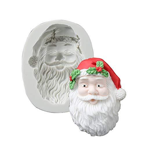Rocita Weihnachten Backen Form Silikon Form Muffin Kuchen Form Backform Pan-Kuchen Form Backen Zubehör, Weihnachtsmann