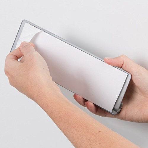 mDesign Especiero de cocina autoadhesivo AFFIXX – Estanterías metálicas para especias con tres estantes – Práctico organizador de especias de color plateado – Metal - 3