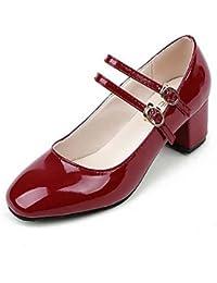 GGX/ Mujer-Tacón Plano-Zapatillas-Tacones-Casual-PU-Negro / Rojo , red-us7.5 / eu38 / uk5.5 / cn38 , red-us7.5 / eu38 / uk5.5 / cn38