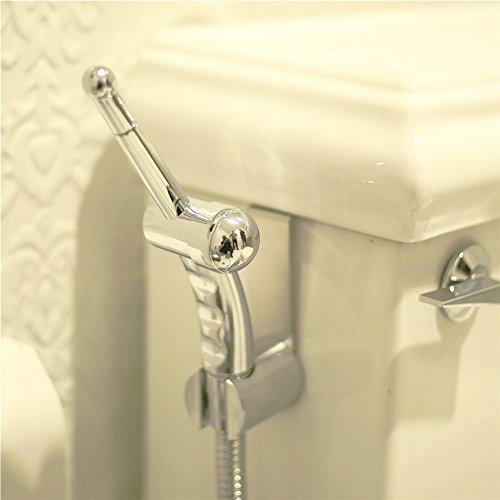 Hand gehalten Bidet Baby Tuch Windel Sprayer, Premium 149,9cm edelstahlgewebeschlauch Schlauch, Spritze Halterung, Absperrventil, komplett Set für WC, Bidet WC-Befestigung