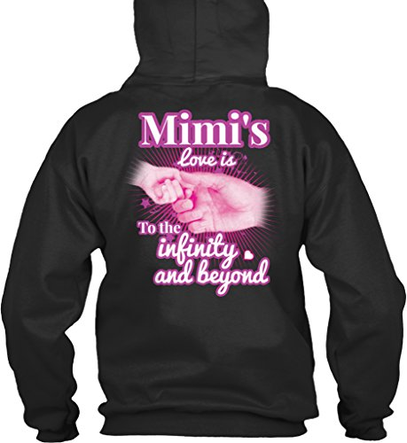teespring Men's Novelty Slogan Hoodie - Mimi's Love is to The Infinity and Beyond