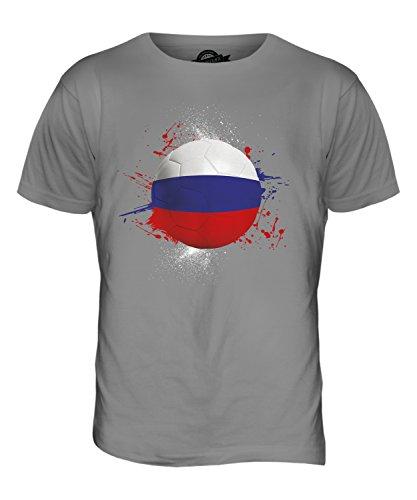 CandyMix Russland Fußball Herren T Shirt Hellgrau