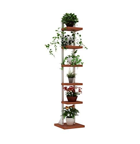ZRX-Flower Rack 6-Tier-Eisen-Blumen-Stand-Blumen-Racks Eisen Corner Floor Standing Blumentopf (Farbe : B)
