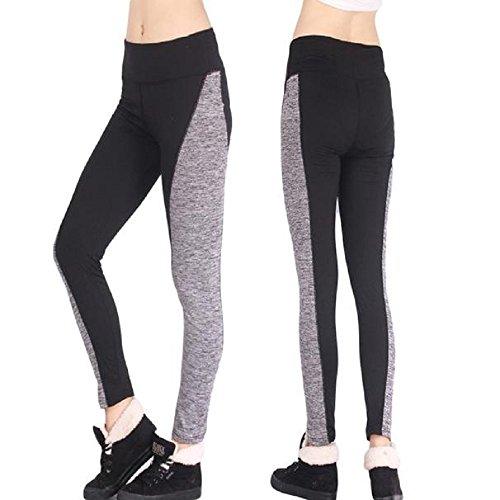 Yoga,WINWINTOM Donne Leggings Fitness Vita Alta Mesh Leggings Patchwork Magro