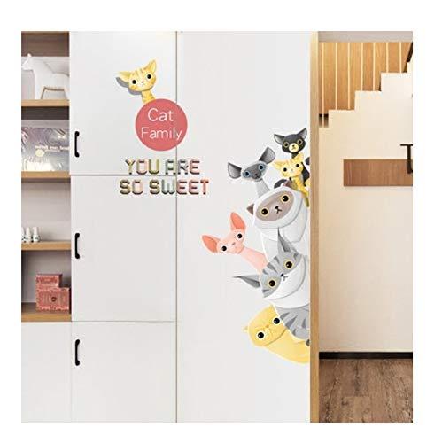 Diy Cartoon Tier Tür Dekoration Aufkleber Kinder Wandaufkleber Baby Kindergarten Wohnkultur Poster Tapete 90x204CM - 204 Poster