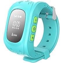 Q50 Smartwatches Reloj Infantil Pulsera Inteligente GPS / LBS Localizador Alarma para Seguridad de Niños - Azul