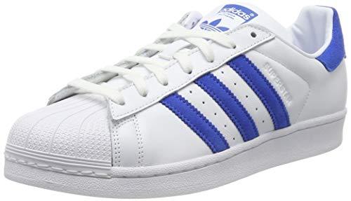 adidas Superstar, Zapatillas para Hombre, Blanco (Footwear White/Blue/Footwear White 0), 44 EU
