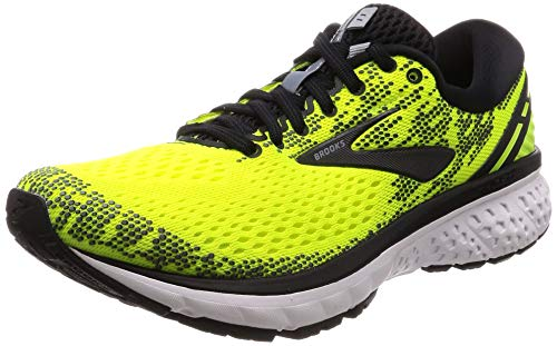 Brooks Ghost 11, Scarpe da Running Uomo, Giallo (Nightlife/Black/White 795), 44.5 EU