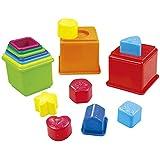 PlayGo - Set cubos apilables y figuras geométricas, 16 piezas (Colorbaby 2384)