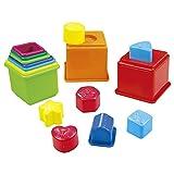 Playgo - Set cubos apilables y figuras geométricas - 16 piezas (ColorBaby 44286)