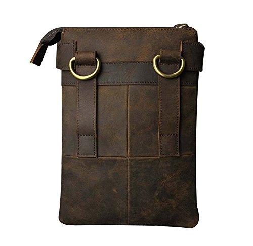 Genda 2Archer Vintage Carrying Reise Umhängetasche Gürtel Hüfttasche Braun