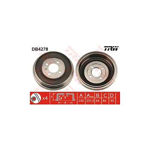Preisvergleich Produktbild TRW Automotive AfterMarket DB4278 Bremstrommel