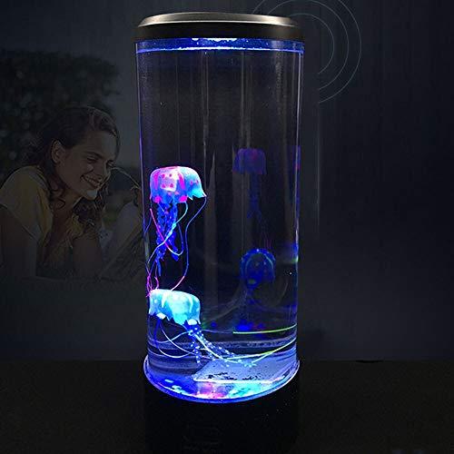 8°KL Luce Notturna Bambini Ragazza 3D Super Power Saving Acquario Domestico Lampada della Decorazione Torretta LED Medusa Notte della Lampada Change Lampada da Comodino USB #721821