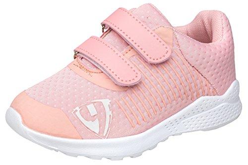 gibra Sportschuhe Sneaker für Babys und Kleinkinder, Art. 5927, Sehr Leicht, mit Klettverschluss, Rosa, Gr. 22