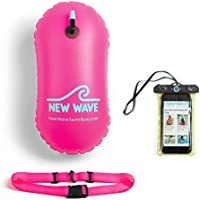 Swim Bubble for Open Water Swimmers and Waterproof Phone Case Bundle - Bubble Bundle Pink