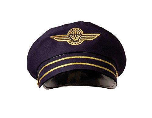 e Flight Captain Pilotenmütze für Erwachsene, Gr. 57/59 dunkelblau ()