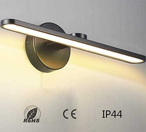 MantoLite LED Wandleuchte Bild Licht,Aluminium Artwork-Beleuchtung Fixture,Badezimmer Spiegel-Leuchte 11W 880LM 40CM Warmweiß Lampe Schwarz Finish