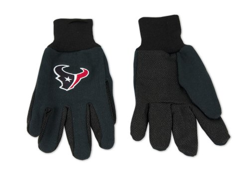 NFL Houston Texans Two-Tone Gloves, Blue/Black by WinCraft