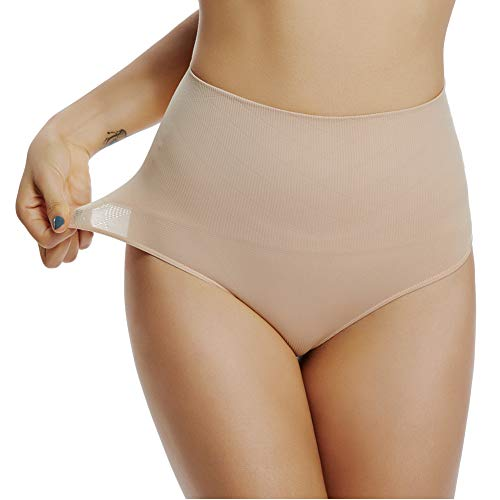 Joyshaper Damen String Panties Thong String Tanga Mittler Hohe Taille Atmungsaktive Slip für Alle Art von Kleidung