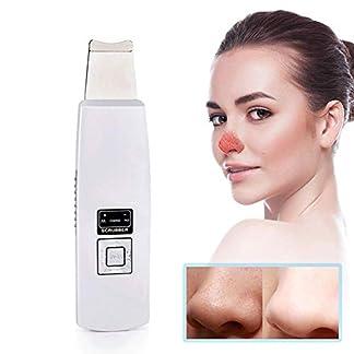 NAFE Dispositivo de succión de espinillas con Limpiador de poros eléctrico, USB Recargable con Pantalla LED, Limpieza Profunda de la Piel