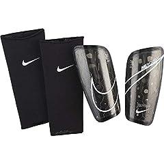 Idea Regalo - Nike Mercurial Lite, Parastinchi Unisex - Adulto, Black/Black/(Wht), M