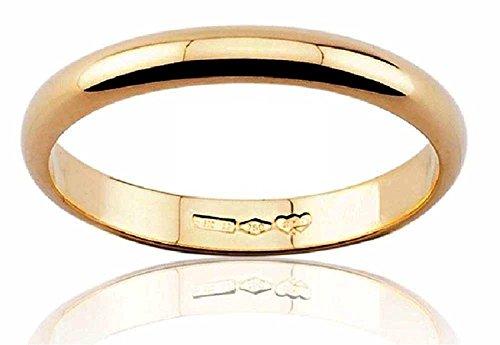 Anello fede nuziale oro giallo 18 kt. grammi 3 larga 4 mm spessore 1.9 mm incisione gratis promo matrimonio (13)