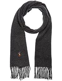 Echarpe en laine vierge Ralph Lauren grise pour homme