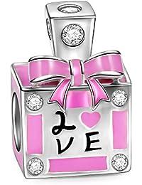 NinaQueen Perfume de Amor Abalorio de mujer de plata de ley