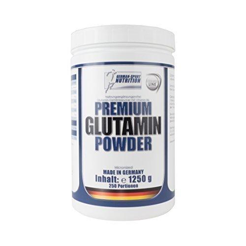 L- glutammina in polvere 1250 g di glutammina pura - L-Glutamine Powder Prodotto in Germania