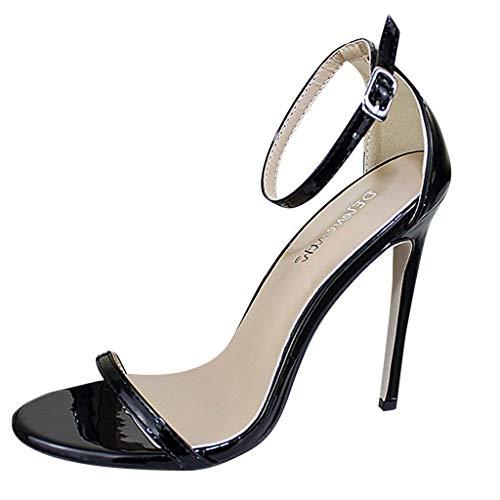 OIKAY Frauen Knöchelriemen High Heels Offene Zehensandalen Hohe Stiletto Pumps mit Absatz Damen Party Schuhe Pumps Peep Toe Schuhe