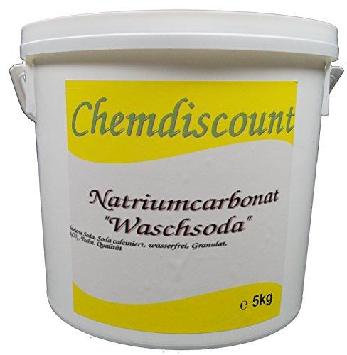 5kg Waschsoda (Natriumcarbonat Na2CO3 calcinierte Soda) Granulat, versandkostenfrei!