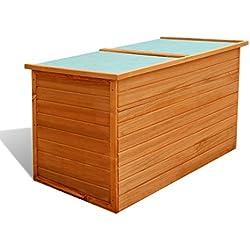 vidaXL Arcón de madera resistente al agua para exterior