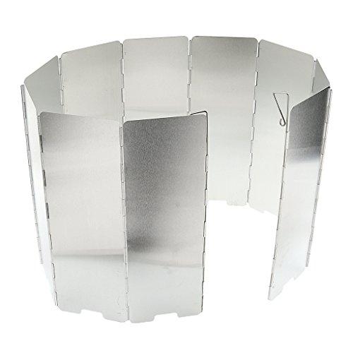 10plates Plegable Estufa A Gas Para Exteriores Protección Contra El Viento De Pantalla Protector De Viento width=