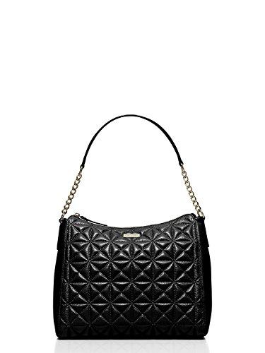 Kate Spade Whitaker Place Aurelia Quilted Leather Hobo Bag, Black (Pocket Hobo 2 Bag)