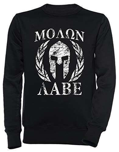 Molon Labe 1 Unisex Herren Damen Jumper Sweatshirt Pullover Schwarz Größe M Men's Women's Jumper Black T-Shirt Medium Size M
