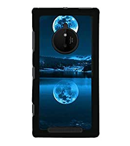 printtech Moon Light Water Nature Back Case Cover for Nokia Lumia 830