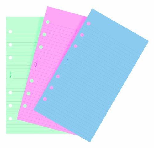 filofax-personal-recambio-para-agenda-de-anillas-hojas-rayadas-para-notas-color-verde-rosa-y-azul