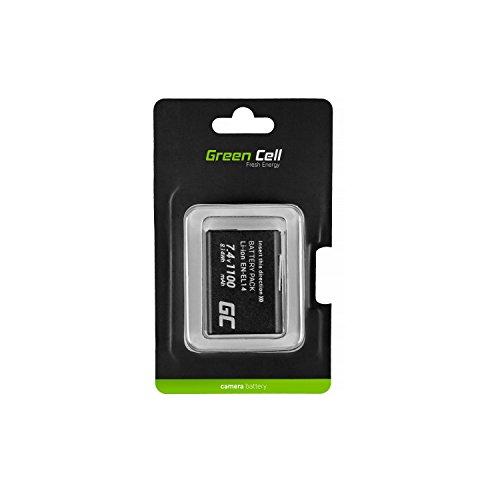 Green Cell® EN-EL14 EN-EL14A Batería Nikon D3100