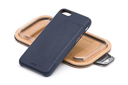 Bellroy iPhone 8 Plus / 7 Plus Phone Case - 3 Card aus Leder, Farbe: Eucalyptus Blue Steel