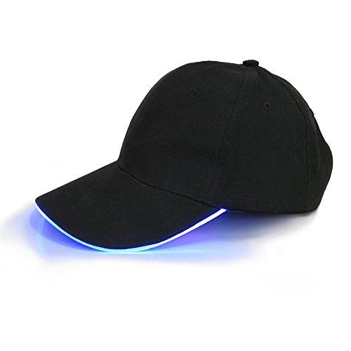 24c4d2c981a55 Casquette de Baseball LED réglable Clignotant Lumineux Light Up Black Sport  Chapeaux pour Hommes Femmes à la Mode Plaine Hip Hop Glow Party Vacances  Chasse ...