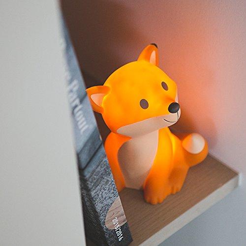 Atelier Pierre Fuchs-Leuchte | LED Nachtlicht mit Schlafmodus & automatischer Abschaltung nach 5 Min. für den Nachttisch im Kinderzimmer | Stimmungslicht, Schlummerlicht oder Kinderlampe