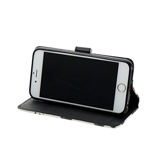iPhone 6s Custodia, Copertura per iPhone 6S/6 4.7, | PU Portafoglio in pelle Progettato case di Slot per schede stare | | Diamanti Bling Totem blu | Polvere di scorrimento antigraffio Cover Grigio