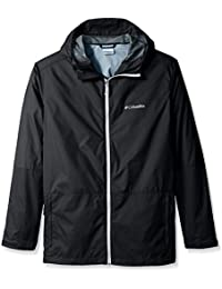 Columbia Men's Big & Tall Roan Mountain Jacket,Black/White,Large/Tall