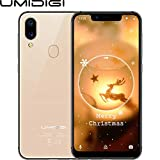 "UMIDIGI A3 Pro Mobile Phone Unlocked Dual 4G VoLTE Smart Phone 5.7"" Incell 19:9 Full-screen Display 3GB RAM+32GB ROM Triple Slots Face Unlock 12MP + 5MP Dual Camera Android 8.1[Gold]"
