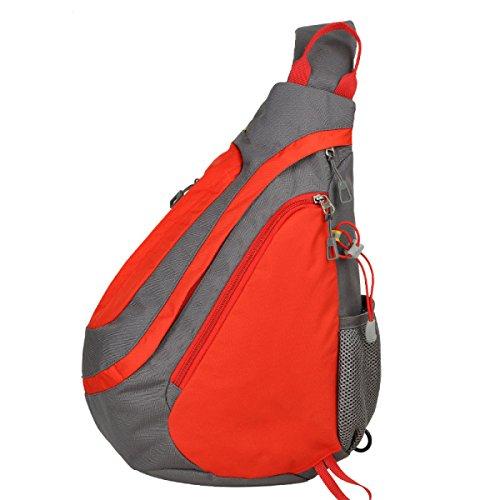 Yy.f Lässige Mode Dreieck Rucksack Schulterbeutel Neue Tasche Messenger Bag Drop Praktische Interne Externe Art Und Weise 3 Farben Red