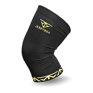 JERRYBOX Ginocchiera in Nylon in fibra di rame, Banda di sostegno del ginocchio, comprime e dà supporto, compressione elastica – per sport, la riabilitazione – antimicrobica, ascuigatura rapida, deodoranti - singola - XL